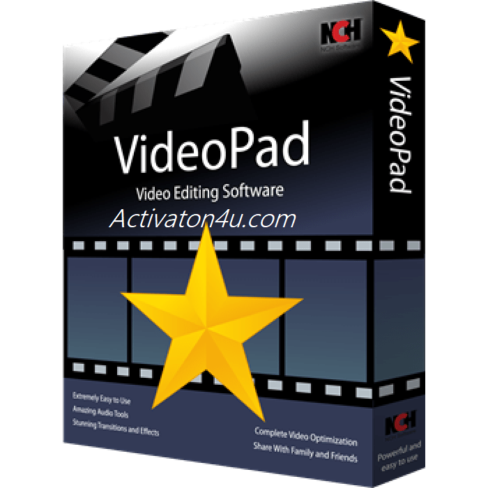 NCH VideoPad Video Editor Professional 8.63 Beta Crack Free Download